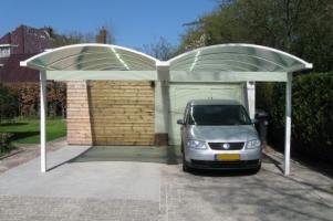 carport autoskule dubbel wit pext 550x366
